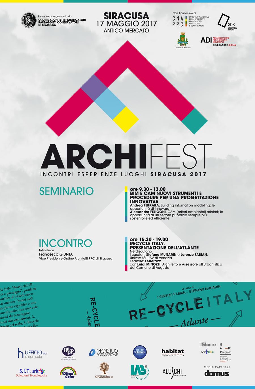 Programma di mercoled 17 maggio festa dell 39 architettura for Programma di architettura